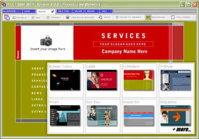 Blueframe Web 5.0.0 screenshot