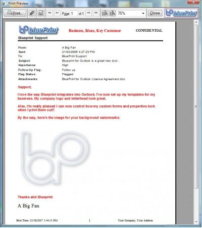 Blueprint for Outlook Professional 2.6 screenshot