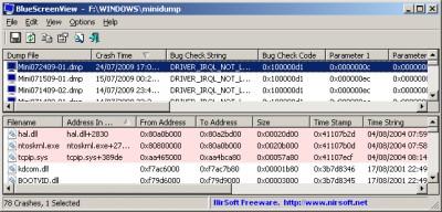 BlueScreenView 1.55 screenshot