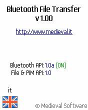 Bluetooth File Transfer (OBEX FTP) J2ME 1.15 screenshot
