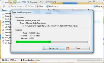 Bluetooth File Transfer 1.2.1.1 screenshot