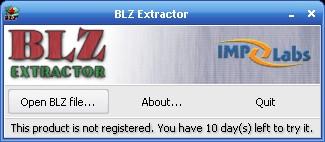 BLZ Extractor 1.0.2.163 screenshot