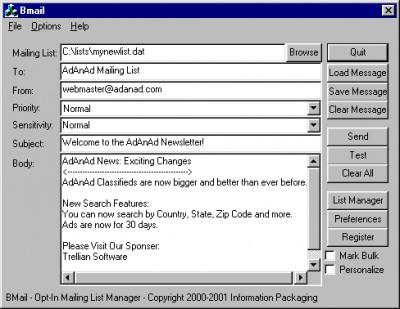 Bmail PRO 1.08 screenshot