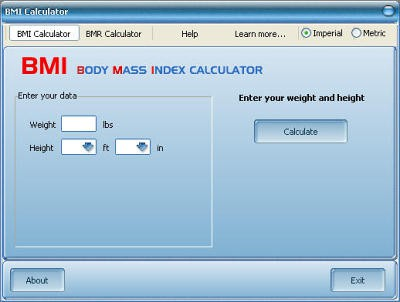 BMI Calculator 1.0 screenshot
