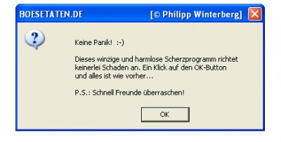 boesetaten.de Fenster-Tarnkappe 1.00 screenshot