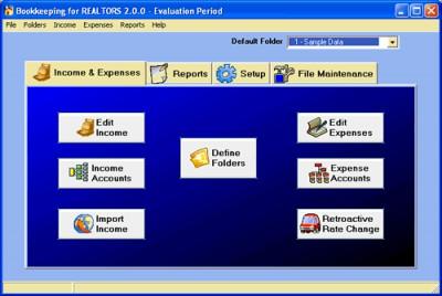 Bookkeeping for REALTORS 2.1.1 screenshot