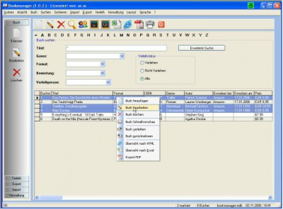 Bookmanager 2.2.1 screenshot