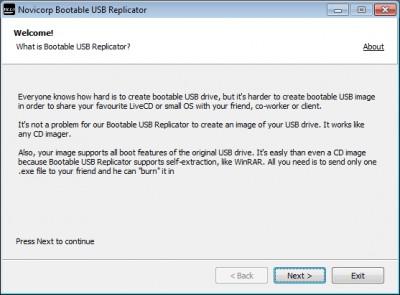 Bootable USB Replicator 0.2.0000 screenshot