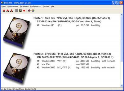 Bootmanager Boot-US 3.9.5 screenshot