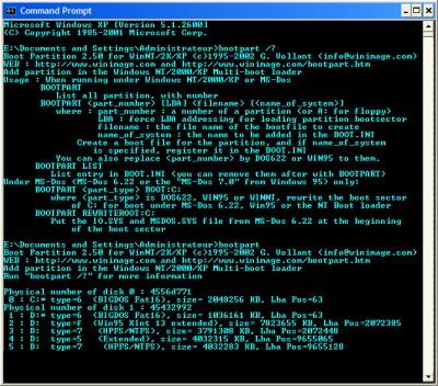 Bootpart 2.60 screenshot