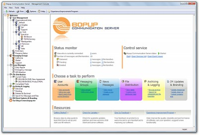 Bopup Communication Server 5.4.3 screenshot