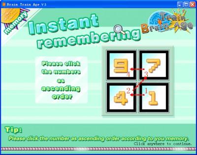 Brain Train Age 3.20 screenshot