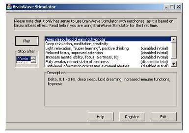 BrainWave Blaster 2.11 screenshot