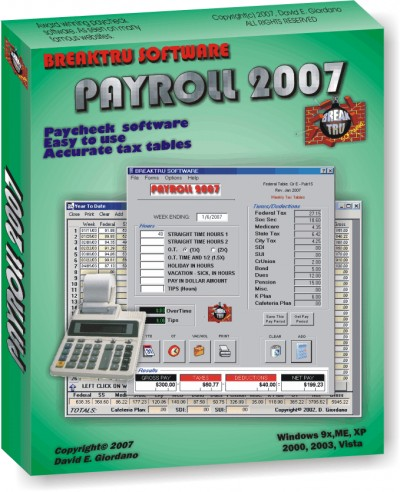 BREAKTRU PAYROLL 2007 11.0.6 screenshot