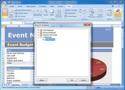 Bring to OneNote 2007 8.0.2.43 screenshot