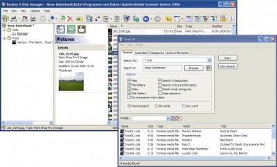 Broken X Disk Manager 4.12 screenshot