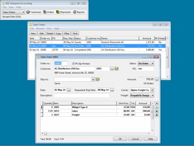 BS1 Enterprise Accounting - Free Edition 2018.8 screenshot