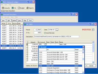 BS1 General Ledger 2020.0 screenshot