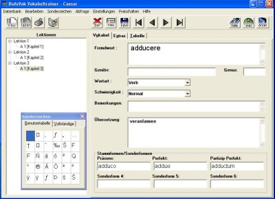 BufoVok Universalvokabeltrainer 3.1 screenshot