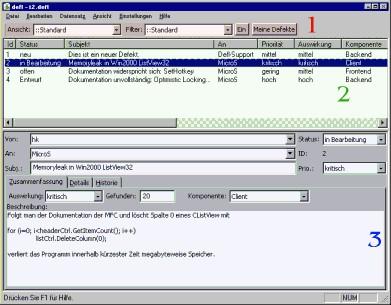 BugLister 1.7 screenshot