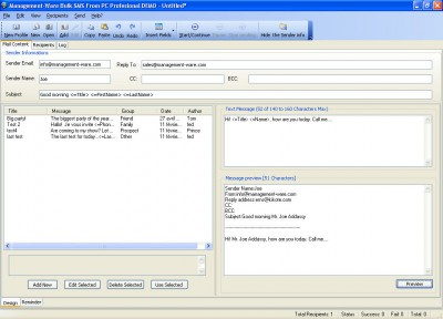 Bulk SMS From PC Starter Edition 1.0.0.0 screenshot