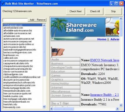 Bulk Web Site Monitor 2.1 screenshot