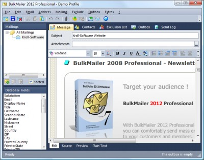 BulkMailer Professional 7.7.4 screenshot