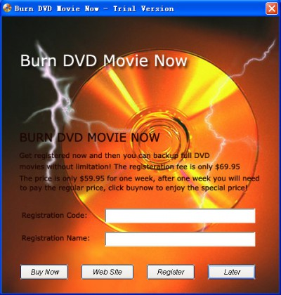 Burn DVD Movie Now 6.1.7.6 screenshot