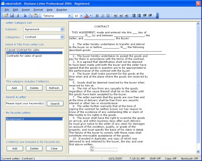 Business Letter Professional 2010 7.15 screenshot