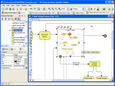 Business Process Visual ARCHITECT Modeler Edition 1.1 SP1 screenshot