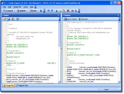 C++ Code Export 1.0.0 screenshot