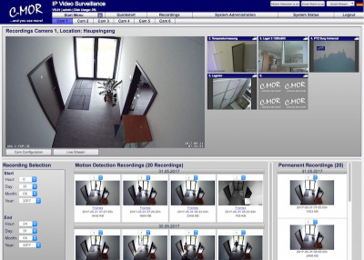 C-MOR IP Video Surveillance Software 5.1000 screenshot
