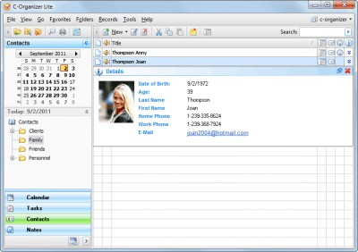 C-Organizer Lite 8.0 screenshot