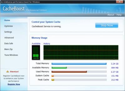CacheBoost Server Edition 5.00 screenshot