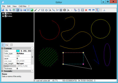 CAD .NET: DWG DXF CGM PLT library for C# 12 screenshot