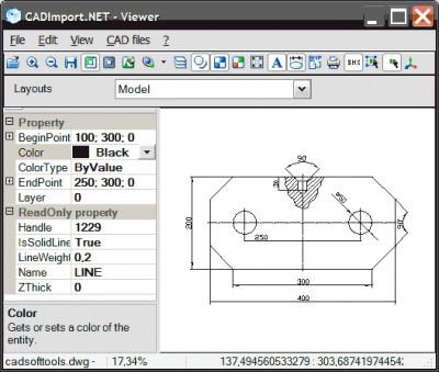 CAD Import .NET: DWG, DXF, PLT 8.0 screenshot