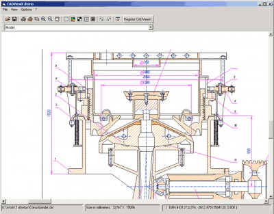 CADViewX: ActiveX for DWG, DXF, PLT, CGM 8.0 screenshot