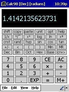 Calc98 5.3 screenshot