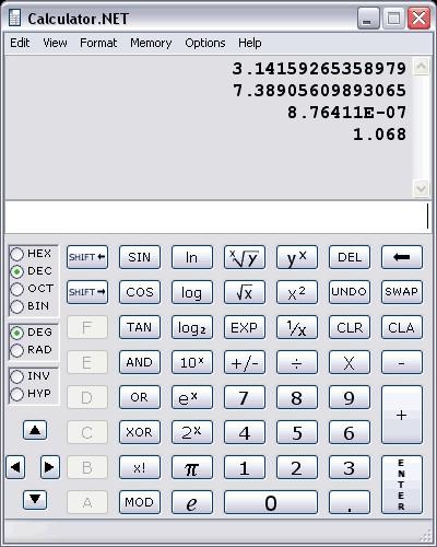 Calculator.NET 2.3 screenshot