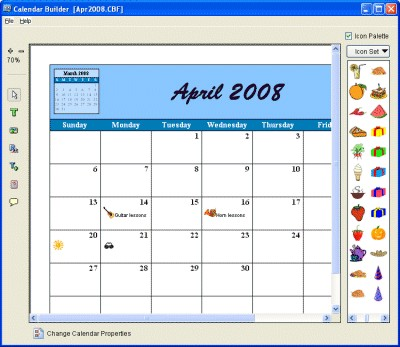 Calendar Builder 3.70 screenshot
