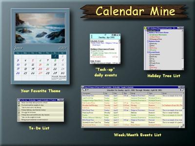Calendar Mine 2.0 (build screenshot