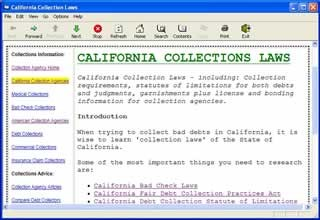 California Collections Laws 1.0 screenshot
