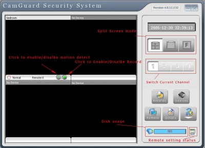 CamGuard Security System (4 Channels) 4.0.12.132 screenshot