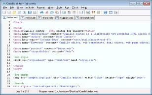 Camillo editor 2.5 screenshot