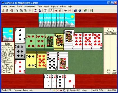 Canasta by MeggieSoft Games 2008 screenshot