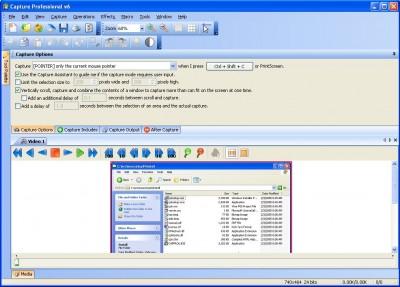 Capture Professional 6.05 screenshot
