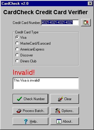CardCheck 2.2 screenshot