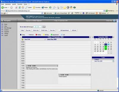 CARTHAGO Groupware 2005 screenshot