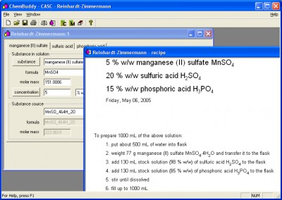 CASC concentration calculator 1.0.2.35 screenshot