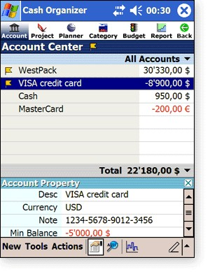 Cash Organizer '05 Premium 6.98.5 screenshot